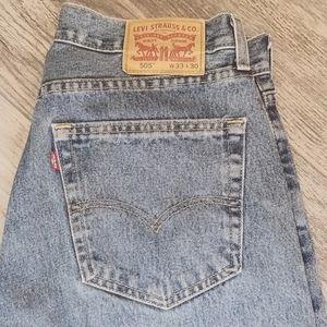 Levi's 505 33x30 Straight cut denim jean